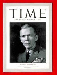 George Marshall-(Marshall Plan)School feeding & public diplomacy were a perfect match during the Marshall Plan era, not only in Italy, but in Germany. General Lucius Clay thought school feeding was the most important public outreach we undertook to win the trust of the German people during reconstruction. Clay realized the school meals were going to change a generation for the better.