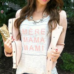 Mami Tee - such a chic look for moms!