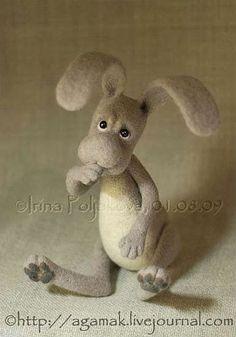 "*NEEDLE FELTED ART ~ Gallery.ru / ""Кузя"" - Мои работы, валяные игрушки - Agamak"