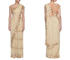 Net Sarees with Stone Work