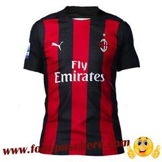 Maillot de Foot AC Milan Domicile Version Fuite 2020/2021 Replica Pas Cher Ac Milan, Messi, Sports, Tops, Fashion, Soccer Players, Hs Sports, Moda, Excercise