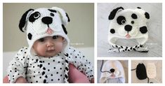 This Dalmatian Dog Baby Hat looks so cute. It would be a wonderful handmade gift and imagine the fun photos you can take using it. Click below link for free pattern…. Crochet Dalmatian Dog Pattern