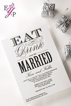 Elegant letterpress wedding invitation suite that will impress with style and craftsmanship!