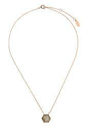 **Hexagon Stone Short Necklace by Orelia