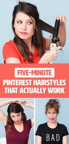 I Tried Five-Minute Pinterest Hairstyles And Here's Which Ones Are Actually…