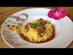 ÚŽASNÝ RECEPT: ZDRAVÉ ŠPAGETY Z ŠPAGETOVÁ DÝNĚ. ÚŽASNÁ ITALSKA RAJČATOVÁ OMÁČKA S MASOVÝMI KULIČKAMI - YouTube Super Pizza, Super Recipe, Italian Meatballs, Spaghetti, Tacos, Mexican, Pumpkin, Squash, Ethnic Recipes