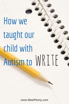 Tips from a mom with a daughter on the Autism Spectrum. Great ideas for building muscle tone and ways to homeschool without using a pencil.