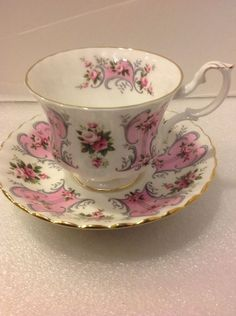 Royal Albert 'Valerie' teacup and saucer