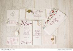 Rich and Rustic describes this wedding stationery set perfectly! This Marsala themed wedding is a must see!! Stationery: Canvas Boutique