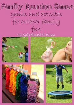 Family Reunion games and activities for family fun | The Sugar Aunts | #lawngames