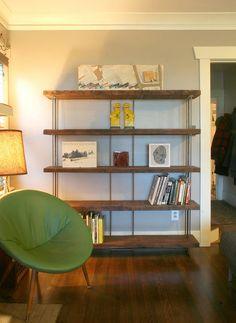 estantería de madera reciclada libro de caja por birdloft en Etsy