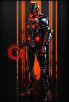 Tron meets Coalition States Deadboy  Conceptual Art by Rodrigo A. Branco