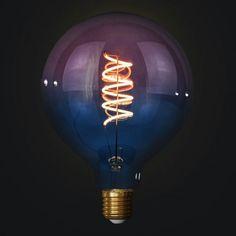 Edison Soft žiarovka BLUE-PINK SPHERE Bari, Light Bulb, Pastel, Led, Retro, Lighting, Pink, Home Decor, Italia
