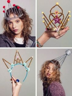 Pipe Cleaner Tiaras; another craft the girls would LOVE.