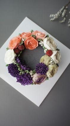 EN REVE FLOWER CAKE -8월 정규 플라워 케익 마지막 수업 후기- 제주 플라워 케익 클래스 : 네이버 블로그