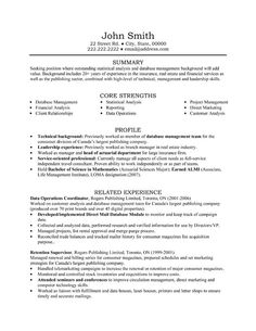 A Professional Resume Template For A Senior Sales And Marketing