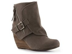 Not sure if I like these... but I might. Hate that nothing is real LEATHER anymore!!! (Blowfish Bilocate Wedge Bootie)