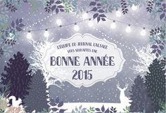 Réalisation de la carte de vœux 2015 pour le Journal l'Alsace :) Decoration Evenementielle, Alsace, Illustrations, Journal, Greeting Card, Paper Mill, Cards, Illustration, Illustrators