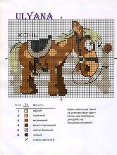 Schema punto croce Cavallo2