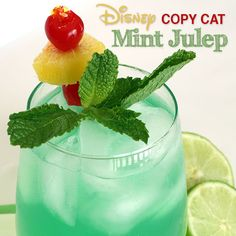 Disney Copy Cat Mint Julep Drink (Non-Alcoholic) at curlycraftymom.com