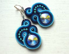 Check out our soutache selection for the very best in unique or custom, handmade pieces from our shops. Soutache Necklace, Tassel Earrings, Crochet Earrings, Boho Jewelry, Jewelery, Fashion Jewelry, Swarovski, Quilling Patterns, Polymer Clay Charms