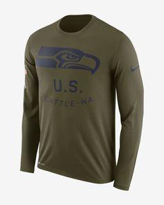 Nike Legend Salute to Service (NFL Seahawks) Men s Long-Sleeve T-Shirt 85989e5f6