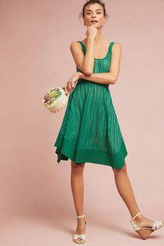 Anthropologie Lino Swing Dress