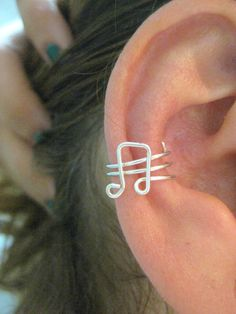 4 pcs Non-Piercing EAR CUFF / WRAP - Music Note