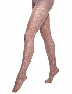 Taupe Baroque Mesh Tights 1 Pair Pack