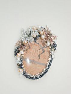 """Брошь """"Тропический закат"""" Seed Bead Necklace, Seed Bead Jewelry, Bead Jewellery, Beaded Jewelry, Handmade Jewelry, Beaded Necklace, Bead Embroidery Jewelry, Beaded Embroidery, Beaded Brooch"""