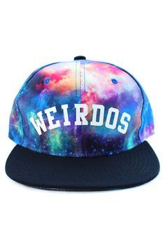 Weirdos Snapback Hat in Galaxy Print use rep code: OLIVE for 20% off