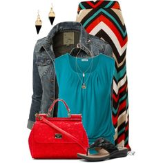 Maxi Skirts & Denim Jacket - not sure if I could pull this off but it sure would be worth a try