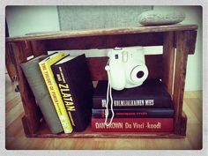 Books and new polaroid