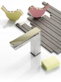 TWEET   Miscelatore per lavabo monocomando by RUBINETTERIE RITMONIO   design Lana Savettiere architetti