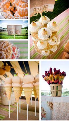 A peaches & cream party on a peach farm!