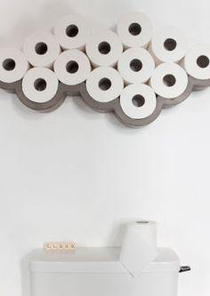 Concrete Cloud Toilet Paper Holder
