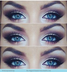 We love this cat eye makeup for blue eyes. Visit Beauty.com for more of your makeup needs.