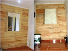 Pallets wall #Decoration, #Pallets, #Recycled, #Wall