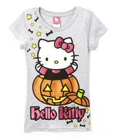 42b7a5c2234 Love this Heather Gray  Hello Kitty  Pumpkin Crewneck Tee - Girls by Hello  Kitty