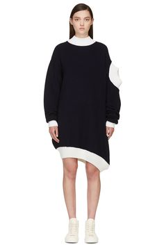 Jacquemus Navy Double Ttes Sweater on Vein - getVein.com/download