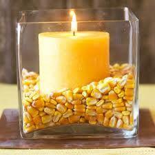 Use corn or candy corn :)