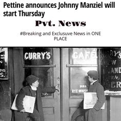 #Sports #Pettine says #JohnnyManziel will #Start #Thursday Pvt. News  http://ift.tt/1CeNjph #PvtNews Or Google #PvtNews