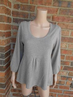BODEN Scoop Neck Sweater Size US 10 UK 14 Tunic Cotton Blend Top WK722 Brown #Boden #ScoopNeck