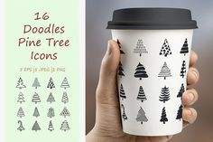 16 Doodles Christmas Tree Icons by ircy on @creativemarket
