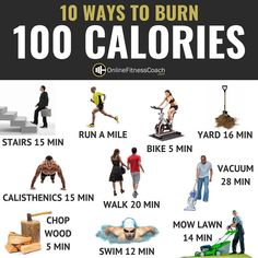 Effective 1000 Calorie HIIT Workout To Get In Shape Fast 10 WAYS TO BURN 100 CALORIES! Some days you simply don't have time for your usual workout. Travel, meetings, or other obligations can get. Meals Under 400 Calories, Burn 100 Calories, Calories Burned Chart, 100 Calorie Workout, No Calorie Foods, Calorie Recipe, Best Weight Loss Plan, Best Diet Plan, Online Fitness