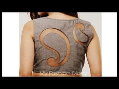 DIY | latest back blouse design | convert ur old blouse back to latest b...