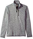 Dockers Men's Quarter Zip Sweater Fleece, Foil Heather, X-Large
