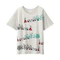 WOMEN Moomin Short Sleeve Graphic T-Shirt - UNIQLO UK Online fashion store
