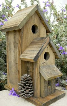 Birdhouse In The Garden That Makes The Park More Beautiful 23