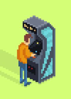 8-Bit Cabinet (Shown at 1000 percent) by mazeon